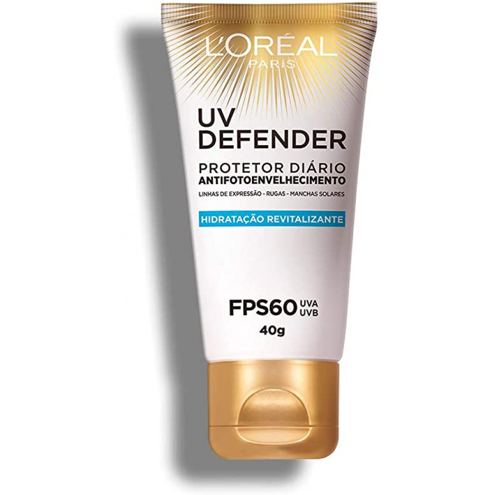 Protetor Solar L'oréal UV Defender FPS 60 Revitalizante 40g