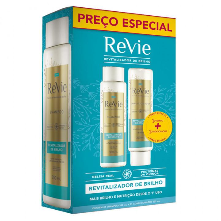 Kit Revie Revitalizador de Brilho Shampoo 350ml + Condicionador 350ml