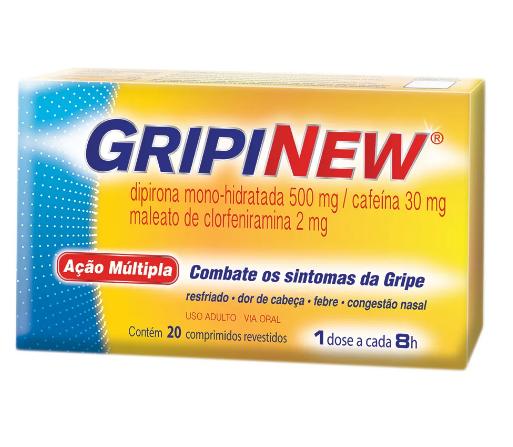 Gripinew Antigripal com 20 Comprimidos