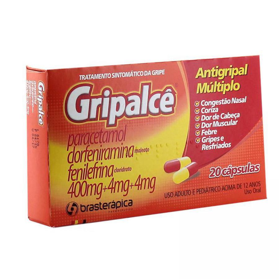 Gripalcê Antigripal Múltiplo com 20 Cápsulas