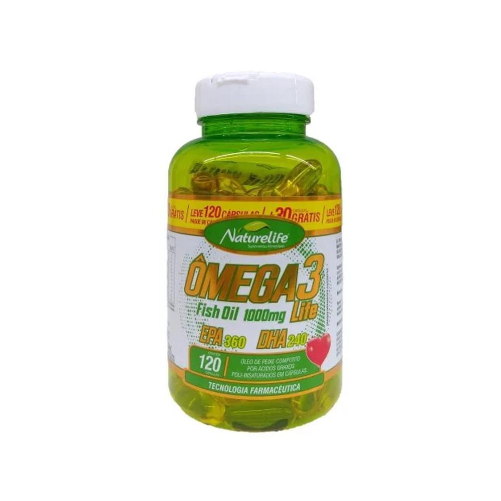 Ômega 3 Fish Oil 1000mg 120 cápsulas