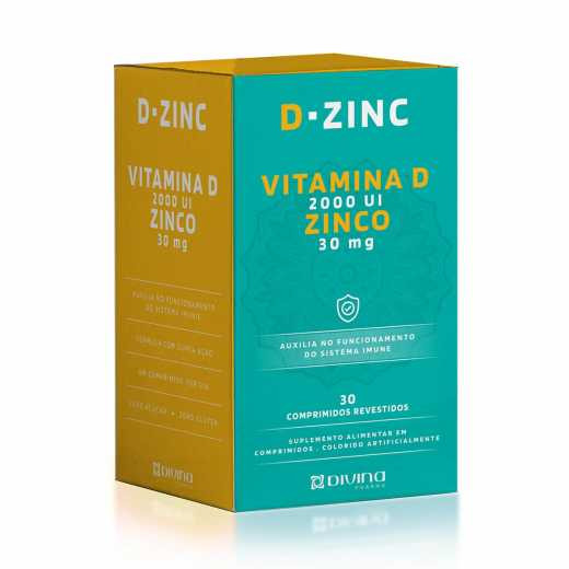 D-Zinc 2.000ui + Zinco com 30 Minicomprimidos