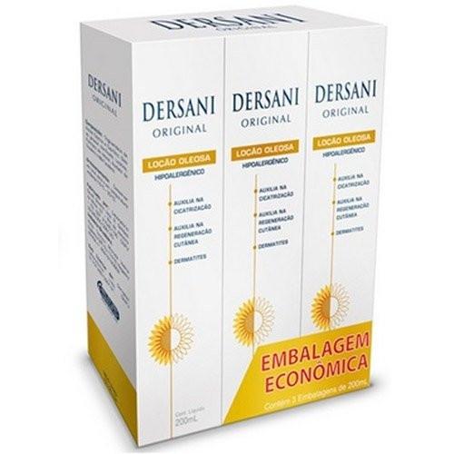 Dersani Original Loção Oleosa Hipoalergênico 3 Unidades 200ml