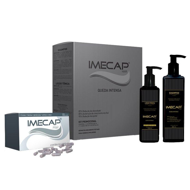 Kit Imecap Hair Queda Intensa (Shampoo 300ml + Loção 100ml + 30 Cápsulas)