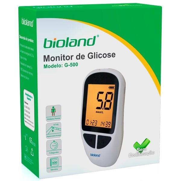Kit Medidor de Glicose Bioland G-500