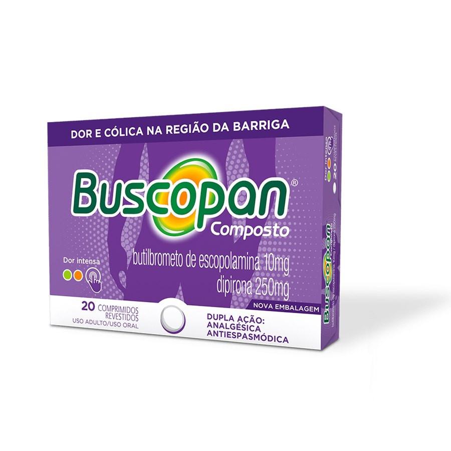 Buscopan Composto Boehringer 20 Comprimidos
