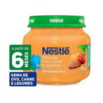 Papinha Nestlé Gema de Ovo, Carne e Legumes 115g