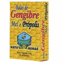 Bala Natus Minas de Gengibre Mel e Propolis