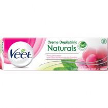 Creme Depilatório Veet Naturals Peles Delicadas 100ml + 1 Espátula