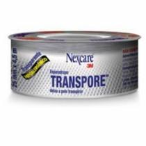 Esparadrapo Transpore Hipoalergenico 25 x 4,5 Metros