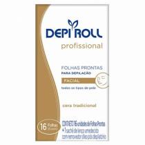 Depilatorio Depi Roll Facial Folhas Tradicional