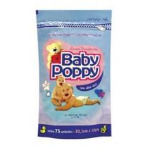 Lenco Umedecido Baby Poppy Com 75 Unidades