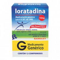 LORATADINA 10MG CX 12 COMP(RAN)