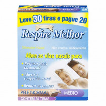 Respire Melhor Dilatador Nasal Normal Leve 30 Pague 20
