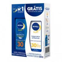 Kit Nivea Sun FPS 30 200ml + Protetor Facial FPS 30 50ml