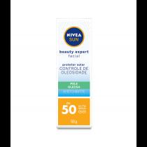 Protetor Solar Nivea Sun Beauty Expert FPS 50 Antioleosidade 50g