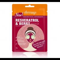 Dermage Máscara Facial Antioxidante Resveratrol & Berry