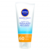 Protetor Solar Nivea Sun FPS 60 Beauty Expert Anti-Idade Corporal 150ml