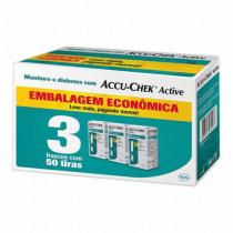 Kit Tiras Accu-Chek Active para Controle de Glicemia com 150 tiras