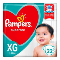 Fralda Pampers SuperSec XG com 22 Unidades