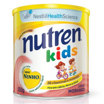 Suplemento Alimentar Nutren Kids Morango Nestlé lata 350g