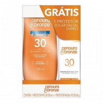 Kit Cenoura&Bronze FPS 30 200ml + FPS 30 Facial Toque Seco 50g