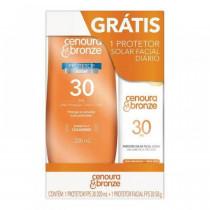 Kit Cenoura&Bronze FPS 30 200ml + FPS 30 Facial Toque Seco 50g