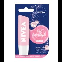 Protetor Labial Nivea Pérola Shine com Cor 4,8g