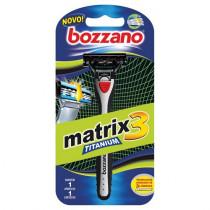 Aparelho de Barbear Bozzano Matrix 3 Titanium 1 Unidade