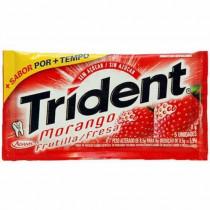 Chiclete Trident morango com 05 unidades