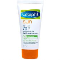 Cetaphil Sun FPS 70 Gel Creme Com Cor 50ml