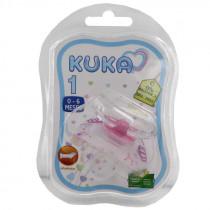 Chupeta Kuka 62742 Fase 1 Premium Bico Silicone Rosa