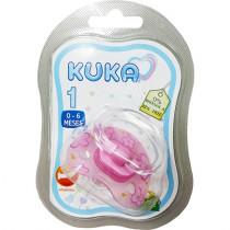Chupeta Kuka Premium Ortodôntica Fase 1 Rosa