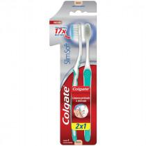Escova Dental Colgate Slim Soft Macia 2 unidades