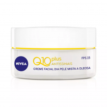 Creme Facial Nivea Q10 FPS 15 Dia Plus Antissinais 52g