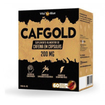 Cafgold 200mg Cafeína 60 Cápsulas