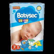 Fralda Babysec Ultra Sec P com 22 unidades