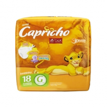 Fralda Capricho Rei Leão G com 18 unidades