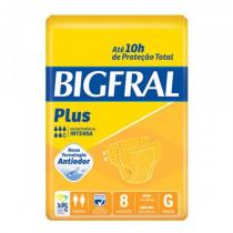 Fralda Geriátrica Bigfral Plus G com 8 Unidades