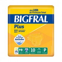 Fralda Geriátrica Bigfral Plus P com 10 Unidades