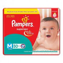 Fralda Pampers Supersec M Pacotão 30 Unidades