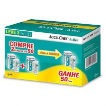 Kit Accu-Chek Active 50 tiras 3 frascos