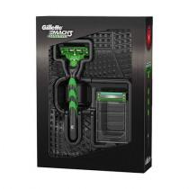 Kit Gillette Mach3 Sensitive Liga da Justiça Aparelho + 2 Cartuchos