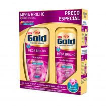 Kit Niely Gold Mega Brilho Shampoo + Condicionador