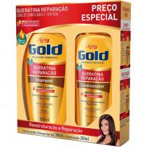 Kit Niely Gold Queratina Reparação Shampoo + Condicionador