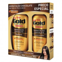 Kit Niely Gold Hidratação Chocolate Shampoo + Condicionador