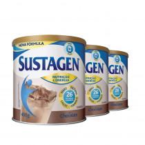 Kit Sustagen Sabor Chocolate 400g 3 Unidades