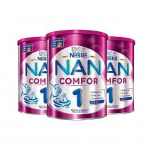 Nan Comfor 1 Nestlé 800g 3 Unidades