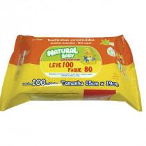 Toalhas Umedecidas Natural Baby Leve 100 Pague 80 unidades