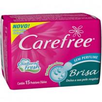 Protetor Diário Carefree Brisa Sem Perfume 15 unidades